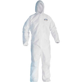 Kleenguard® A40 Liquid & Particle Protection Coverall 44323, White, L, 25/Case