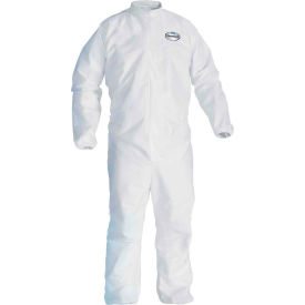 Kleenguard® A30 Breathable Splash & Particle Protection Coverall 46104, White, XL, 25/Case