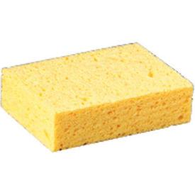 """Premiere Pads Beige Large Cellulose Sponge 4-3/10"""" x 7-4/5"""" x 1-1/2"""" Thick, Yellow 24/Case - PMPCS3"""
