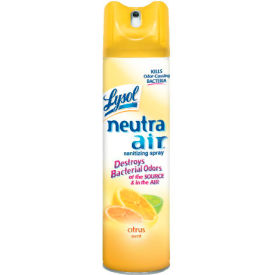 Lysol Neutra Air Sanitizing Spray Citrus Scent, 10 Oz. Aerosol 12/Case - RAC76940CT