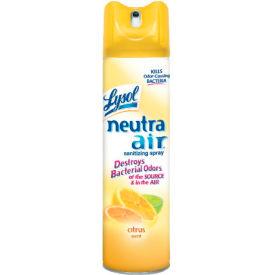 Lysol Neutra Air Sanitizing Spray Citrus Scent, 10 Oz. Aerosol 12/Case - RAC76940CT