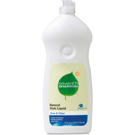 Seventh Generation Natural Dish Liquid Free & Clear, 25 Oz. Bottle 12/Case - SEV22733CT