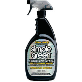 Simple Green® Stainless Steel Cleaner & Polish, 32oz. Trigger Spray Bottle, 12/Case - 18300