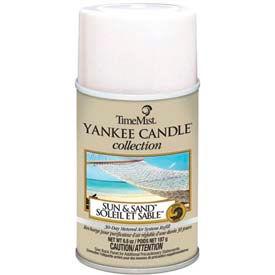 Yankee Candle Air Freshener Refill Sun And Sand, 6.6 Oz. Aerosol Can 12/Case - WTB812400TMCACT