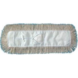 """24"""" x 3"""" Cut-End Cotton Dust Mop Head, White - UNS1024"""