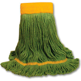 Large Echomop Looped-End Recycled Fibers Wet Mop, Green 12/Pack - BWK1200LCT