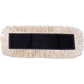 "48"" x 5"" Cotton/Synthetic Fibers Dust Mop Head, White - BWK1648"