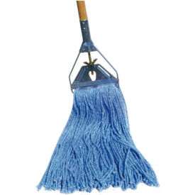 12 Oz. Standard Cut-End Wet Mop Head, Blue 12/Pack - BWK2016B