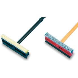"Unisan General-Duty Squeegee, 8"" Sponge Head/Rubber Blade, 16"" Plastic Handle - BWK816"