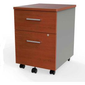 Linea Italia® Mobile Pedestal File - Box/File Drawer - Cherry / Gray
