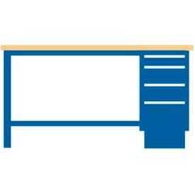 60x30x35.25 Cabinet & Leg workstation w/4 drawers, butcher block top