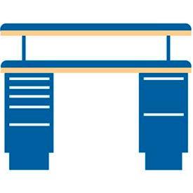 60x30x47.25 (2) Cabinet workstation w/7 drawers, adj. riser shelf/butcher block top