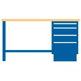 60x30x35.25 Cabinet & Leg workbench w/4 drawers, butcher block top