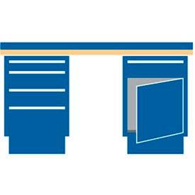 72x30x37.25 (2) Cabinet workbench w, 5 drawers, galvanized steel top