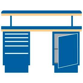 60x30x49.25 (2) Cabinet workbench w/5 drawers, adj. riser shelf/plastic laminate top