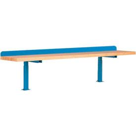Workbench Butcher Block Adjustable Riser Shelf with Back Stop - Blue