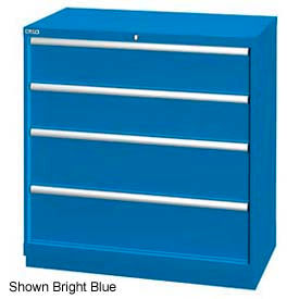"""Lista 40-1/4""""W Drawer Cabinet, 4 Drawer, 24 Compart - Classic Blue, No Lock"""