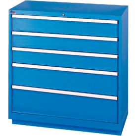 Lista® 5 Drawer Shallow Depth Cabinet   Blue, Individual Lock