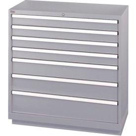 Superbe Cabinets   Modular Drawer   Listau0026#174; 7 Drawer Shallow Depth Cabinet    Light Gray, Individual Lock   B192218   GlobalIndustrial.com