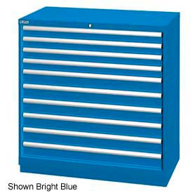 """Lista 40-1/4""""W Drawer Cabinet, 10 Drawer, 162 Compart-Bright Blue, Individual Lock"""