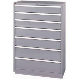 Cabinets   Modular Drawer   Listau0026#174; 7 Drawer Shallow Depth Cabinet    Light Gray, Individual Lock   B192221   GlobalIndustrial.com