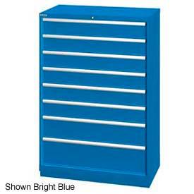 "Lista 40-1/4""W  Cabinet, 8 Drawer, 84 Compart - Bright Blue, Individual Lock"