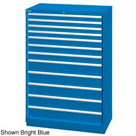 "Lista 40-1/4""W  Cabinet, 12 Drawer, 177 Compart - Classic Blue, No Lock"