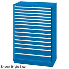 """Lista 40-1/4""""W  Cabinet, 14 Drawer, 222 Compart - Classic Blue, Individual Lock"""
