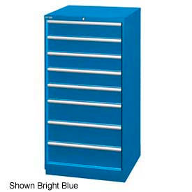 """Lista 28-1/4""""W Cabinet, 8 Drawer, 95 Compart - Classic Blue, Keyed Alike"""