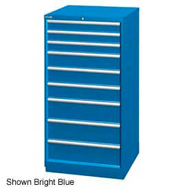 """Lista 28-1/4""""W Cabinet, 9 Drawer, 111 Compart - Classic Blue, Individual Lock"""