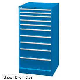 "Lista 28-1/4""W Cabinet, 10 Drawer, 161 Compart - Classic Blue, Individual Lock"