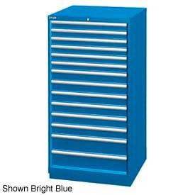 "Lista 28-1/4""W Cabinet, 14 Drawer, 282 Compart - Bright Blue, Individual Lock"