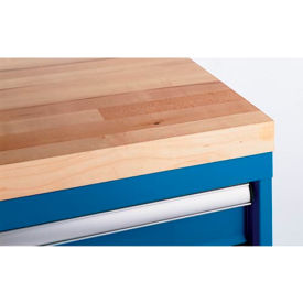 "Lista® Butcher Block 24""W Shallow Depth Mobile Cabinet Top"