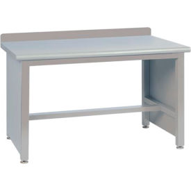 Technical Workbench with Tech Legs, Plastic Laminate Top - Gray