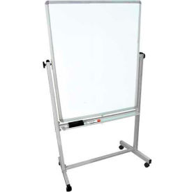 """Luxor® Mobile Double Sided Magnetic Whiteboard, Aluminum Frame, 36""""W x 48""""H"""