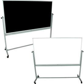"""Luxor® 72""""W x 40""""H Mobile Reversible Whiteboard/Chalkboard"""