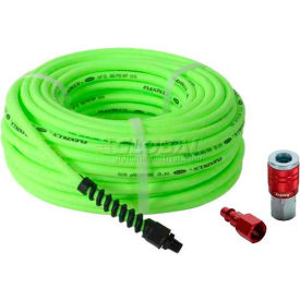 """Flexzilla® HFZP1450YW2 1/4""""x50' 300 PSI Hybrid Polymer All Weather Field Repairable Air Hose"""