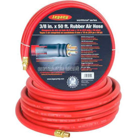 "Legacy™ HRE3850RD2 3/8""x50' 300 PSI Synthetic Yarn Weave Synthetic Rubber Air Hose"