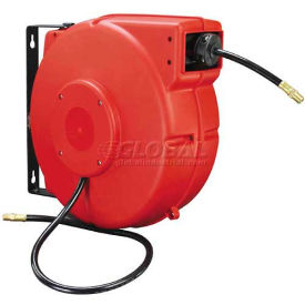 "Legacy™ L8250 3/8""x50' 300 PSI Enclosed Chassis Spring Retractable Plastic Air Hose Reel"