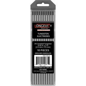 "3/32"" x 7"" TIG Tungsten - 2% Ceriated Grey - Pkg of 10"