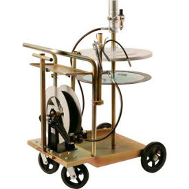 Liquidynamics 13070-S3 Mobile Grease Kit with Heavy Duty Cart & Reel