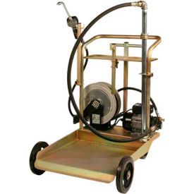 Liquidynamics 51009C-S2 Electric Oil Transfer Cart, 55 Gallon Drums W/25' Reel 7 GPM