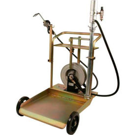 Liquidynamics Mobile Drum Cart System W/Desiccant Breather & Filter, 55 Gallon