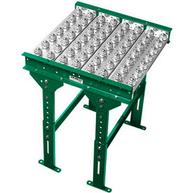 "Ashland Conveyor 4' Ball Transfer Conveyor Table BTIT220403 22"" BF 3"" Ball Centers by"