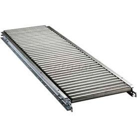 "Ashland 10' Straight Roller Conveyor - 16"" BF - 1-3/8"" Roller Diameter - 1-1/2"" Axle Centers"