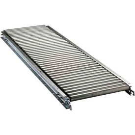 "Ashland 10' Straight Roller Conveyor - 22"" BF - 1-3/8"" Roller Diameter - 1-1/2"" Axle Centers"