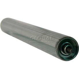 "Ashland 1-3/8"" Dia. Galvanized Steel Replacement Roller, 10"" BF, 1/4"" Round Spring Retained Shaft"