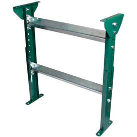 "H-Stand Support for 12"" OAW Skatewheel & 10"" BF Roller Conveyors, Adjustable 19-1/2"" to 31""H"