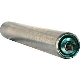 """Ashland 1.9"""" Dia. Galvanized Steel Replacement Roller - 22"""" BF - 7/16"""" Hex Spring Retained Shaft"""