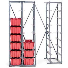 "LEWISBins HR1814 Single Metal Hopper Rack, 8-High, 34""W x 19-5/16""D x 75""H"